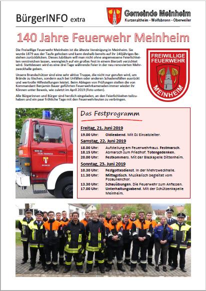 Extra - 140 Jahre FFW Meinheim